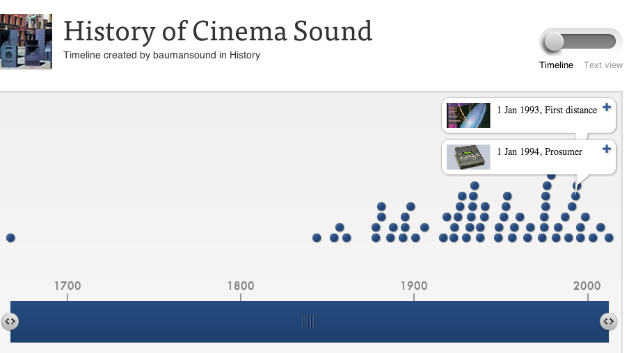 History of Cinema Sound